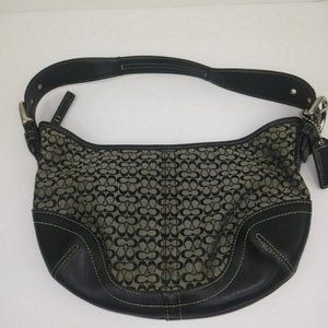 Coach H3K-6351 LEATHER BLACK SMALL SIGNATURE Hobo